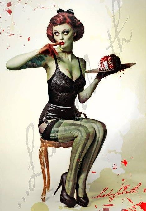 "Daily Dose of Drawing: ""Lingerie Zombie"" @Daily Dose Cafe"