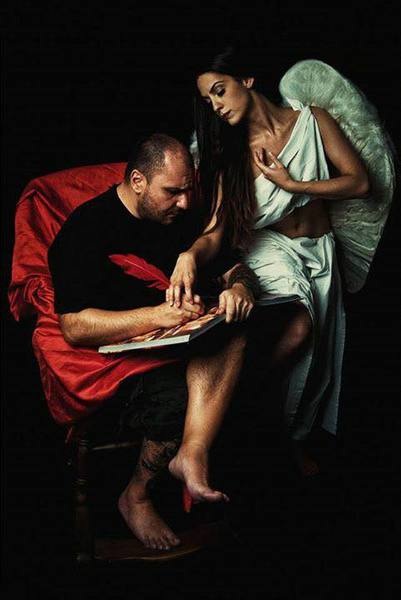 "Drinky Draw – ""Caravaggio Angel"" theme $20"