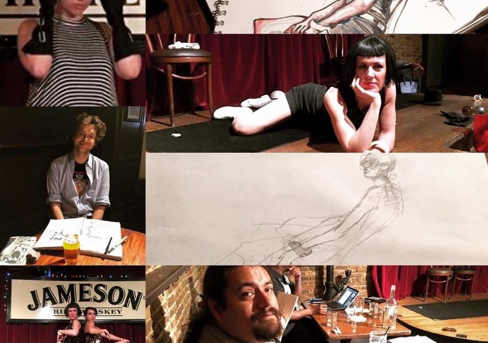 "Original Drink & Draw W/ The Gallery Girls ""Dominatrix"" 2 Models @Casey's Irish Pub"