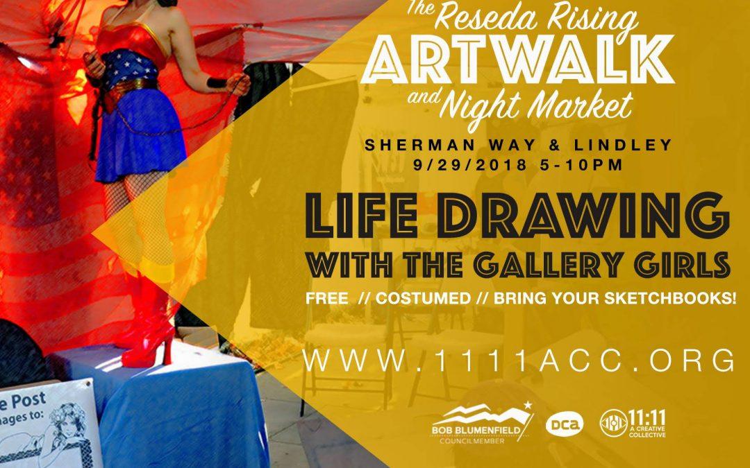 FREE Reseda Rising – Art Walk/ Night Market *Free Model Drawing*
