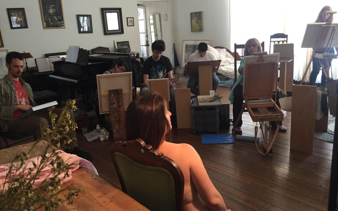 Valley Art Brunch in Woodland Hills (Paint or Draw a model/ 4 hours + Food)